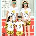 Семья комплект 2016 лето семья наряды пляж улыбка комплект одежды мать сыны мама и дочь отец соответствующие одежды