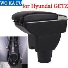 Для hyundai GETZ подлокотник коробка подлокотник универсальный автомобиль центральной консоли модификации аксессуары двойной поднят с USB