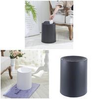 Plastic ABS Flip Lid Trash Can Rubbish Storage Barrels Rubbish Bin For Home Office Kitchen Best Price
