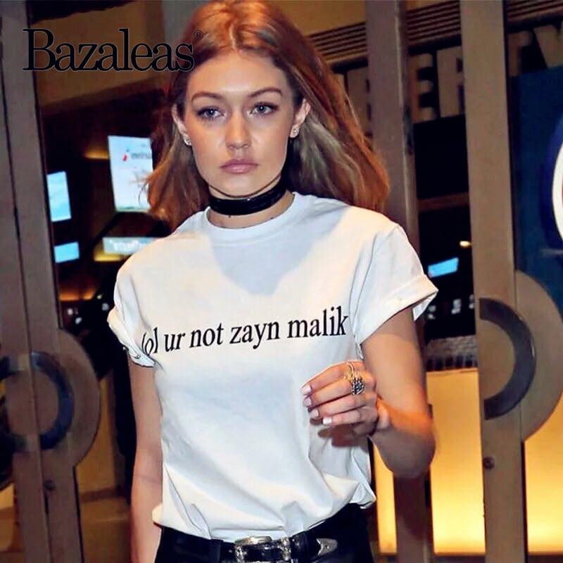 2018 cotton summer Tops Harajuku Women T-shirt lol ur not zayn malik print fashion t shirt casual Casual Punk