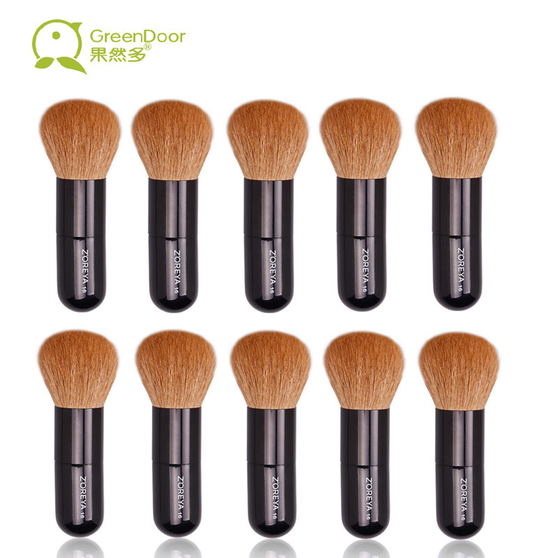 все цены на  10 Pieces Powder Brushes Natural Goat Hair Makeup Brush Set Elegant Black Wood Handle Cosmetic Tool Make Up Brushes Top Quality  онлайн