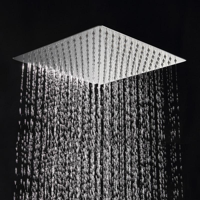 Ultra-thin Rainfall Shower Head 12 Inch 30CM*30CM Square Stainless Steel Chrome Rain Shower Heads Bathroom Accessories цена 2017