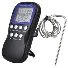 Buy LCD Display Meat Thermometer Kitchen Digital Cooking Probe Cooking Thermometer Food Electronic for BBQ Cooking Tools
