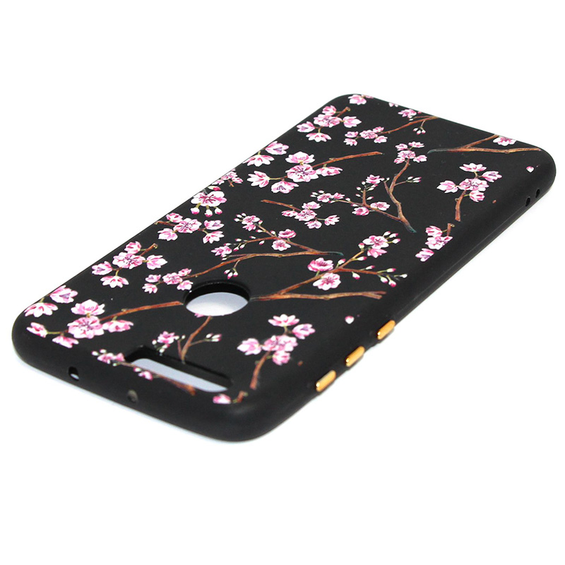 3D Relief flower silicone case huawei honor 8 (41)