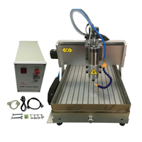 4axis Mini CNC Router 3040Z 2200w professional metal Engraving Milling Machine with water tank and limit switch