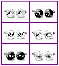 2018 New Bowling Cufflinks Male Cufflinks For Wedding Bowling Ball Handmade Accessory Bowling Cufflinks Anniversary Present(China)