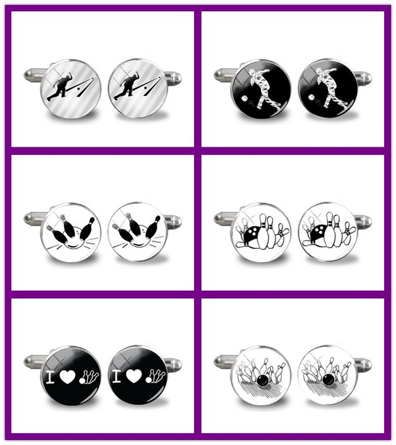 2018 Новые запонки для боулинга мужские запонки для свадьбы Боулинг шар ручной работы аксессуар для боулинга Запонки Подарок на годовщину