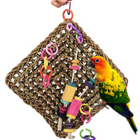 2018 Styles Birds Toys Large Parrot Toys Activity Wall Bird Toy Parrot Cage Toys Fashion Pendan