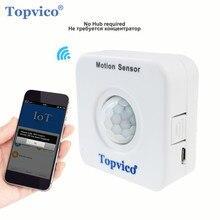 Topvico WIFI czujnik ruchu Mini PIR czujnik ruchu wykrywacz ruchu czujnik alarmowy bezprzewodowy System bezpieczeństwa w domu