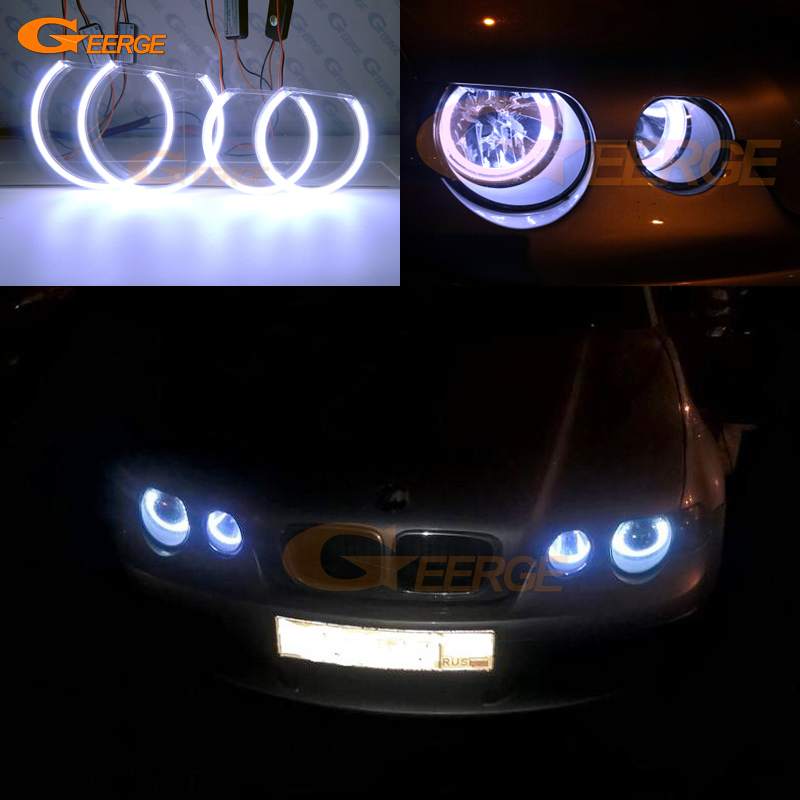 For BMW E46 3 Series Compact 2001 2002 2003 2004 2005 Excellent Ultra bright illumination COB led angel eyes kit halo rings epman universal black 3 76mm polished aluminum fmic intercooler piping kit diy pipe length 600mm for bmw e46 ep lgtj76 600