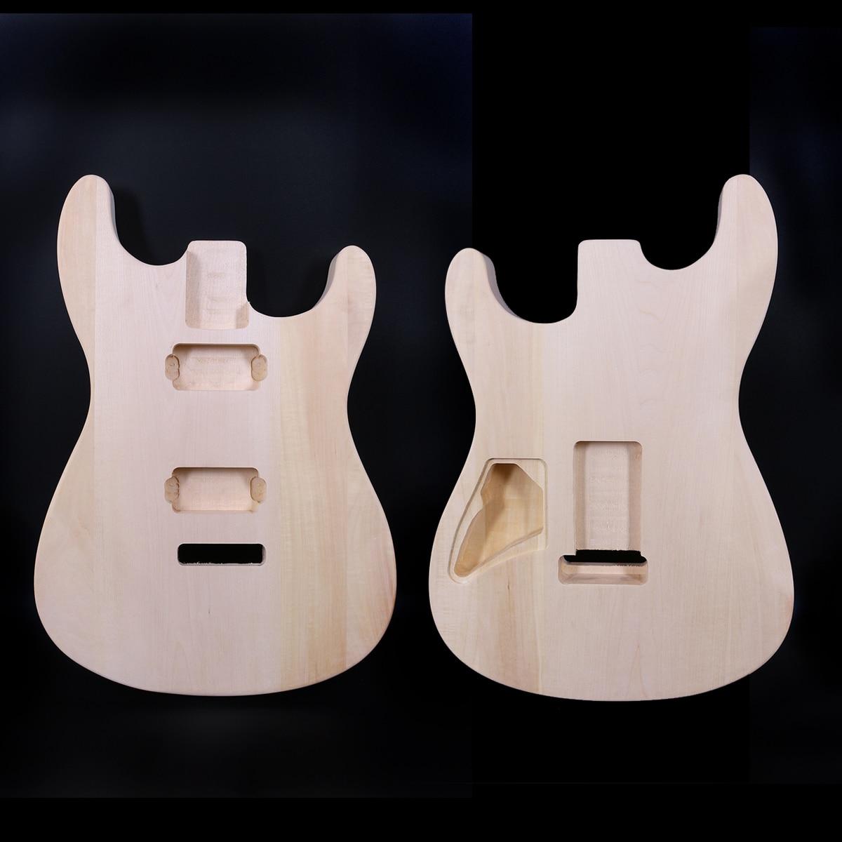 Yinfente guitare électrique corps Basswood Strat Style inachevé lumière forte guitare pièces