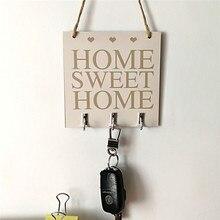 DIY placa de madera regalo colgante etiqueta madera Vintage suspensión Junta dulce decoración hogar signo fresco colgante de pared de puerta arte placa signo