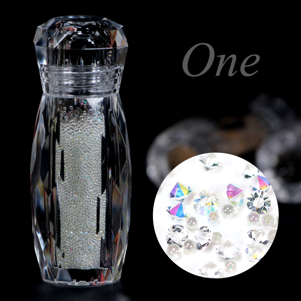 Crystal Caviar Beads Manicure Diamonds For Nails 3D Decoration Micro Diamonds Glitter Balls Stones For Nails Design  MJZ2065
