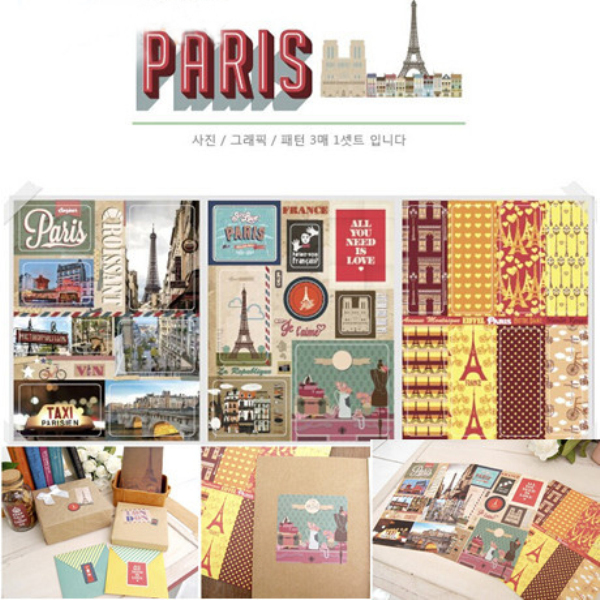 TIAMECH Wholesale 10Pack/Lot Vintage Retro Bonjour Paris London Sticky Paper Travel Sticker Scrapbooking Decoration H0314