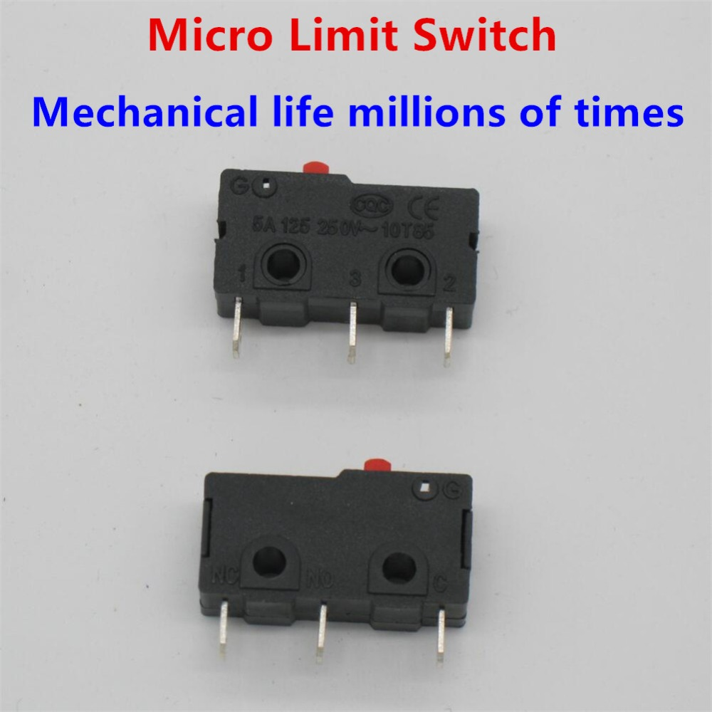 Vkcherry Germany Imports Micro Switch With Long Handle Large Topic How To Wire Cherry Microswitch Arcade Button For Digital Read 10 Pcs Ac 125 250v 5a 3 Pins Red Push Actuator Miniature