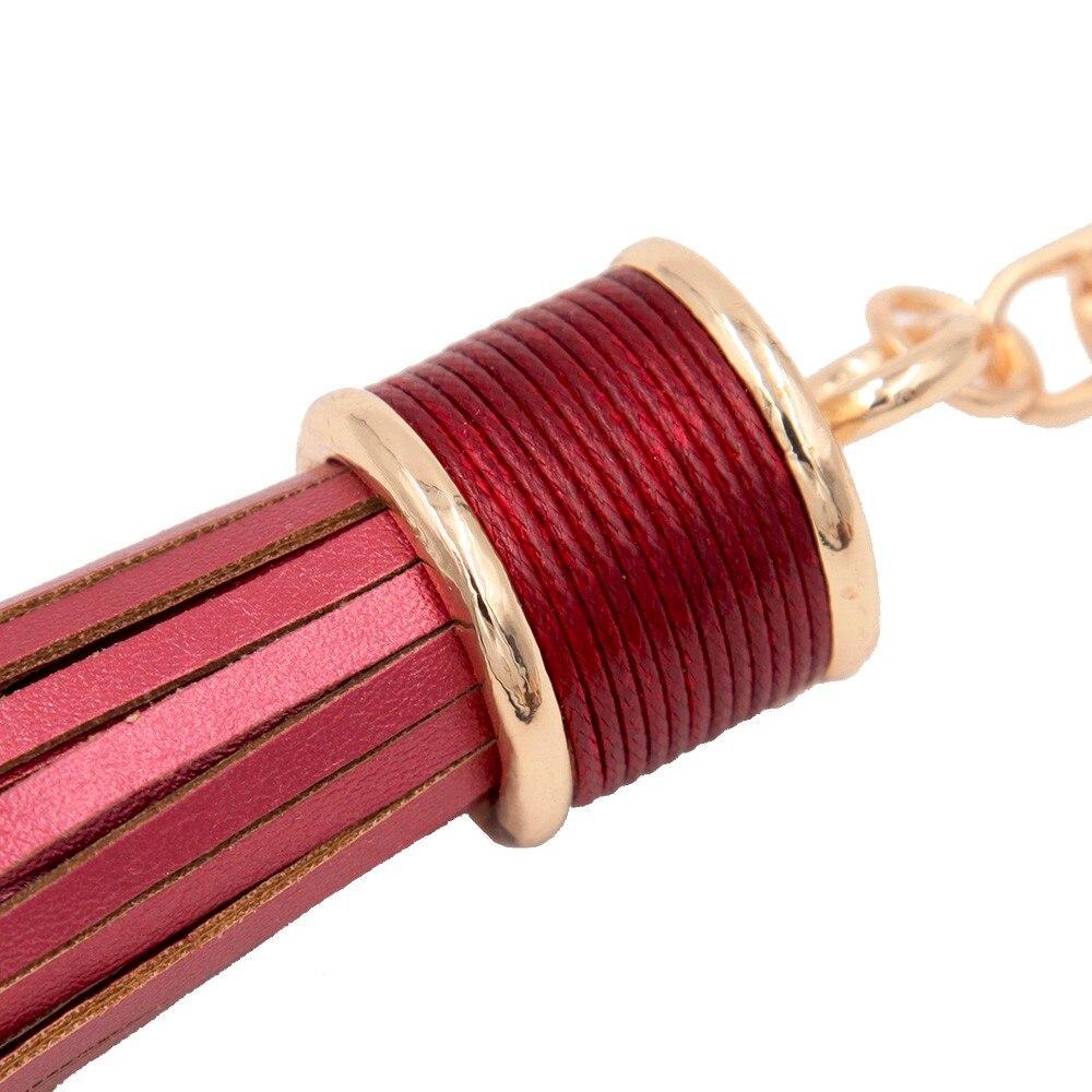 Multi Colores Opcionales de Imitación de Cuero Borla Llavero Bolso - Bisutería - foto 2