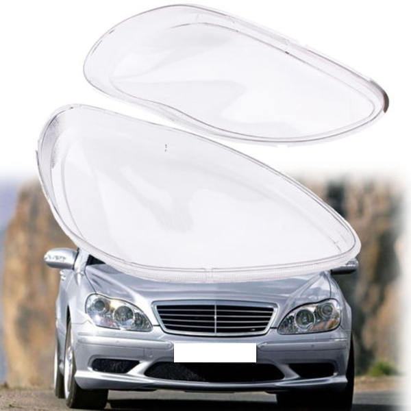 1Pair Car Clear Headlight head light lamp Lens Cover head light lamp Cover For Mercedes <font><b>Benz</b></font> <font><b>W220</b></font> S600 <font><b>S500</b></font> S320 S350 S280 199 image