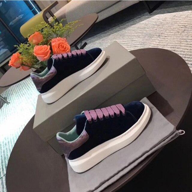 En Dentelle Fond La Chaussures 2 Épais 1 Version Coréenne Femmes 2018 Plat De Nouvelle Blanc Sauvage Casual Cuir 3 Tendance 4 P16xqww