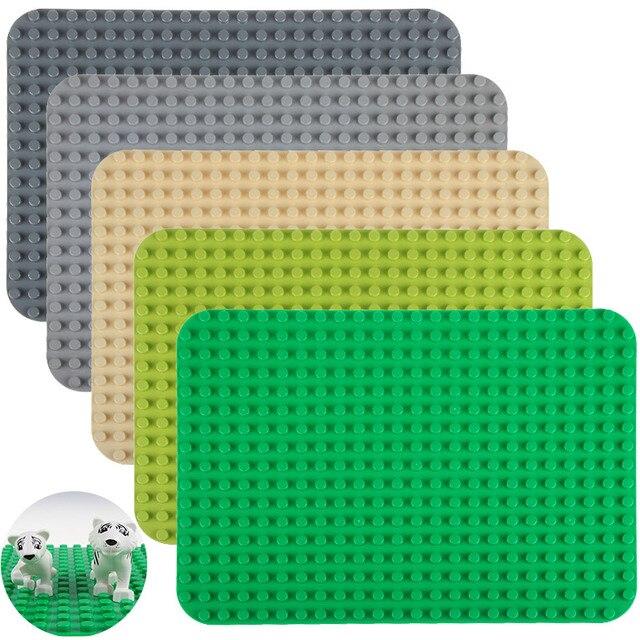 New Big Bricks Baseplate 38*27cm 24*17 Dots Base Plate Compatible with major brand blocks Kids DIY Toy Building Blocks