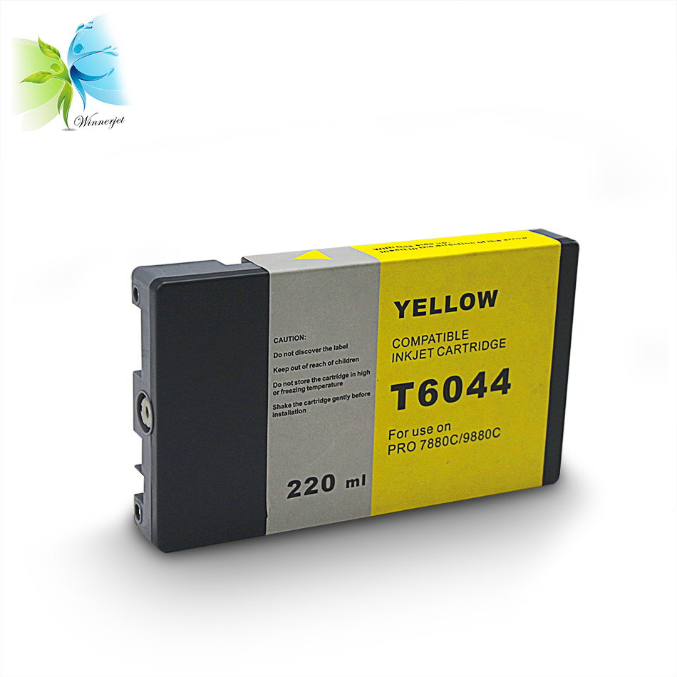 Winnerjet 2x4 color 220ml T6121 T6124 Compatible full pigment Ink Cartridge for Epson 7400 9400 7450 9450 printer in Ink Cartridges from Computer Office