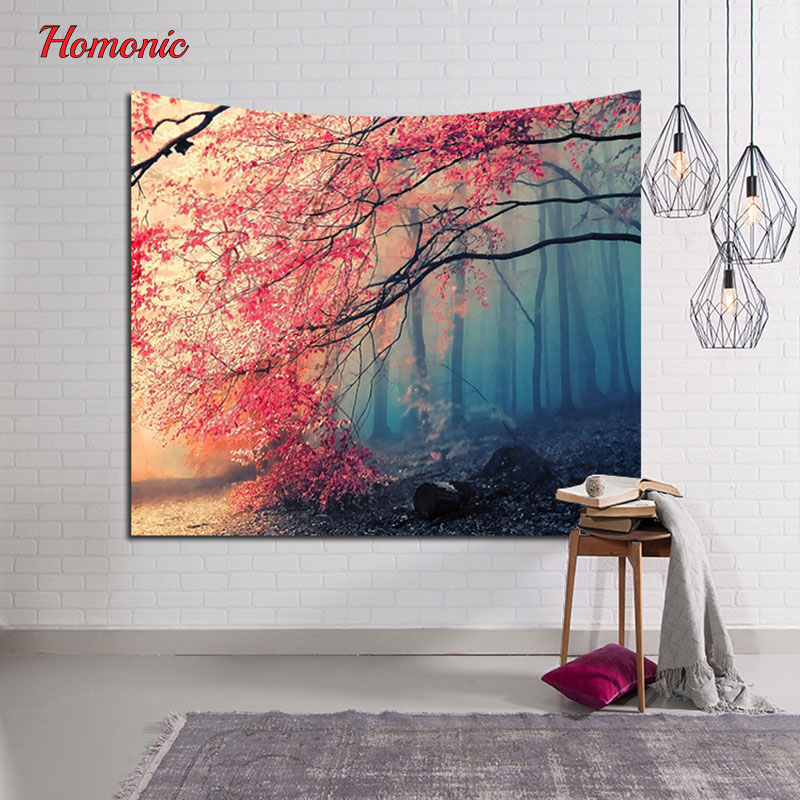 2017New Ocean Scenic sky moon nature tapestry Home Decorative forest wall tapestry Hanging Wall Carpet 153cmx102cm Customizable
