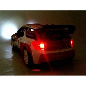 Image 5 - 1:32 ölçekli simülasyon DS3 alaşım araba modeli Diecast araç oyuncak ses ışığı ile Metal otomatik ralli yarış oyuncak araba çocuk hediyeler