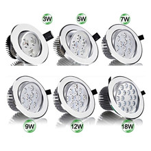 цены Super Bright CREE 3W 5W 7W 9W 12W 15W LED Ceiling Downlight led Downlight Recessed Spot Light for Home Lighting AC85-265V