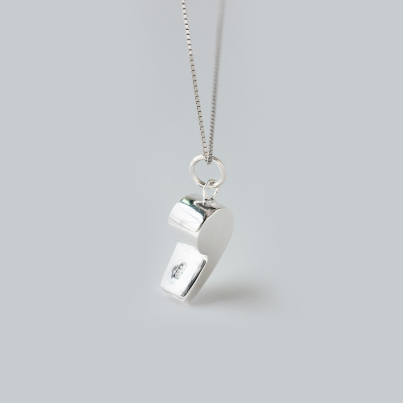 Sterling Silver Polished Whistle Charm Sports Jewelry