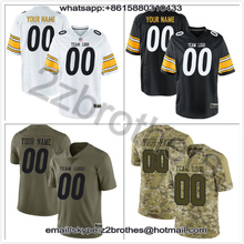 5e07edbd0 China OEM Factory Custom American Football Jersey Design DIY Logo Stitch  Team T-Shirt Pittsburgh White Black Men Women Youth Kid