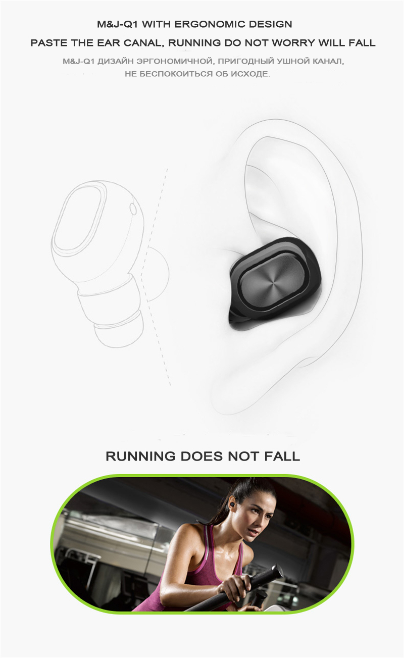Q1 Q26 K8 Mono Stereo Bluetooth Earphone And Hidden Invisible Earpiece For Phones 8