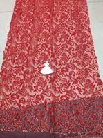 Material del vestido de lentejuelas Decoración de Tul de Tela de Encaje Neto Francés GLITTER Tela de costura para el vestido de noche