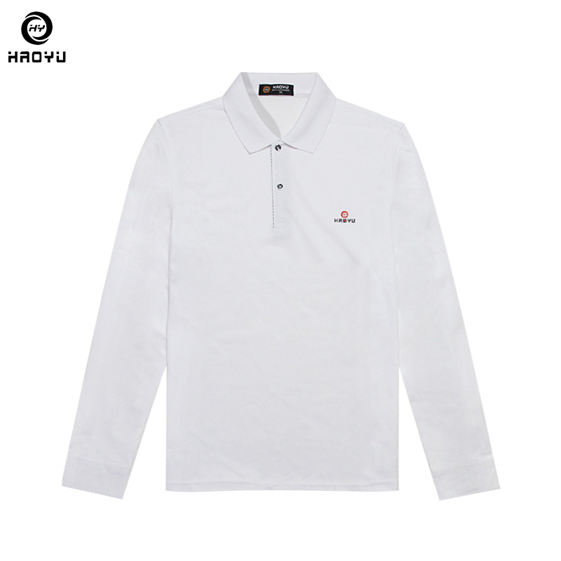 2018 New Men Brand Clothes Solid   Polo   Shirt Regular Slim Long Sleeve Anti-Wrinkle 11 Color Choice Factory Direct Sale Haoyu