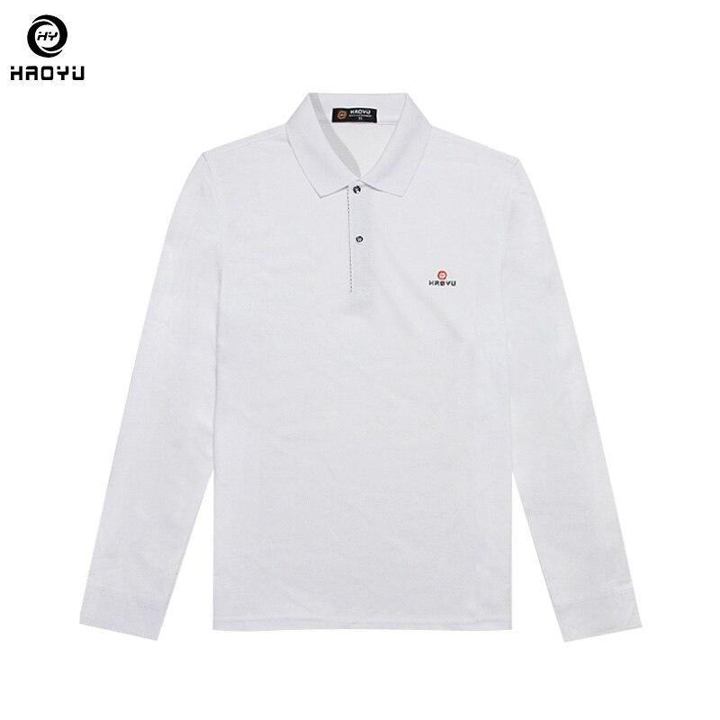 2018 neue Männer Marke Kleidung Solide Polo Hemd Regelmäßig Schlank Langarm Anti-falten 11 Farbe Wahl Fabrik Direkt verkauf Haoyu