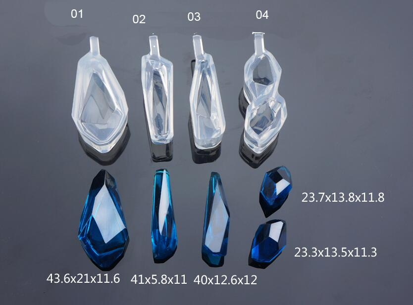 купить 4pcs Geometric Shape Cabochon Silicone Earrings Mold Necklace Pendant Mold for Epoxy Resin molds Jewelry Making DIY Crafts mould онлайн