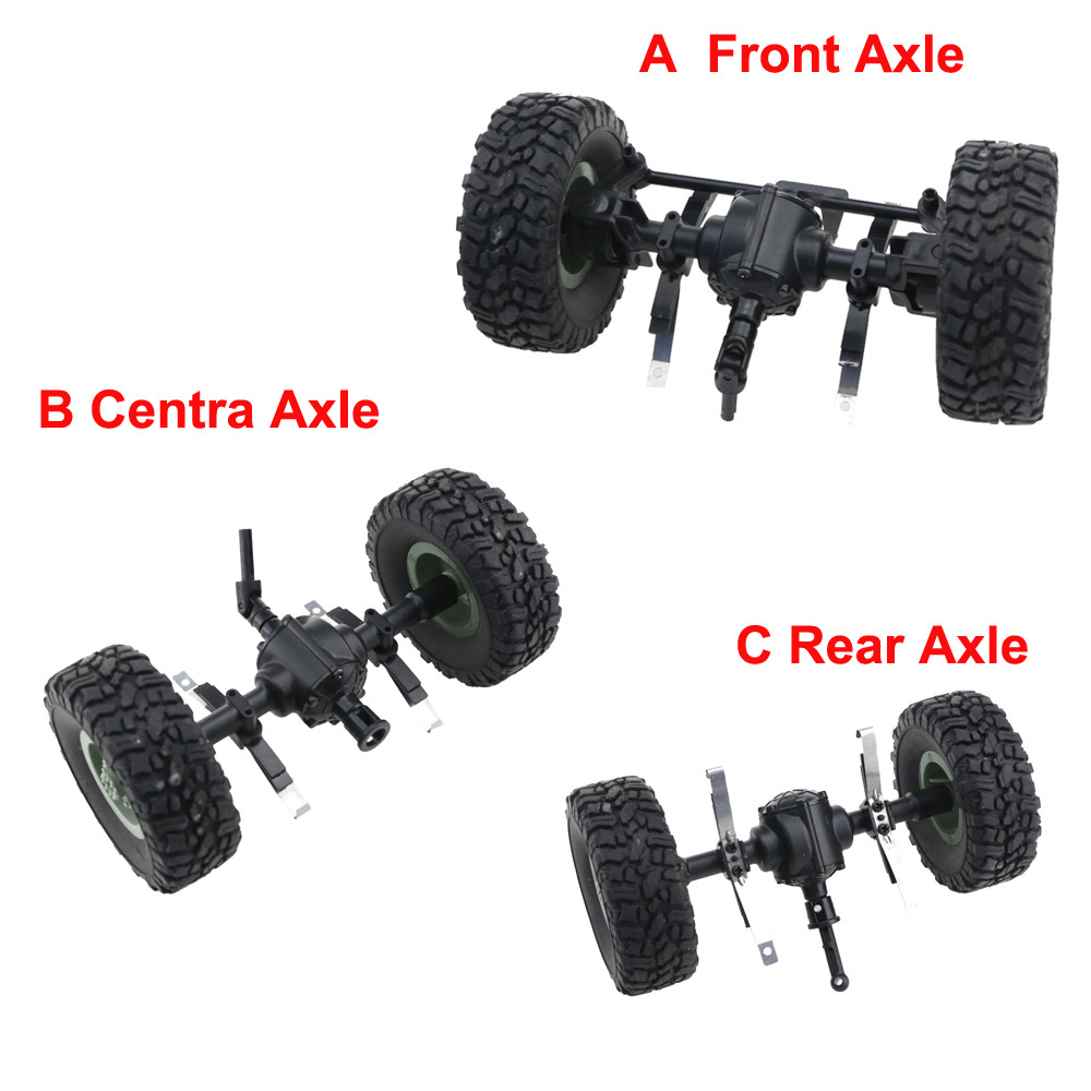 Replacement Accessories Central Bridge Axle Sturdy Front/Centra/Rear Axle Assembly Spare Part For JJRC Q60 1:16 RC Car Parts(China)
