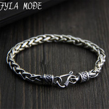 925 Sterling Silver Twisted Rope Chain Bracelet 100% Real S925 Solid Silver Bracelets for Men Jewelry 21*5.50mm 23.40G TYC136