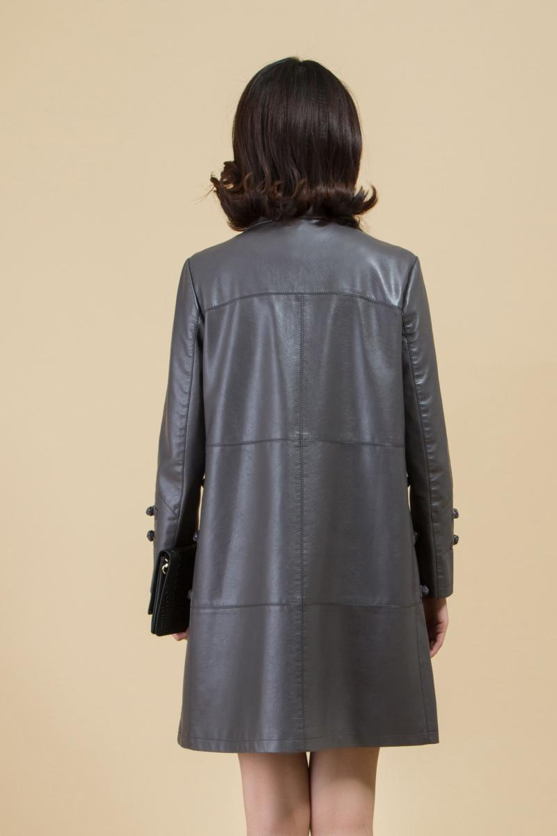 5xl La Feminino noir Long Brown Cuir Femmes Femme Tranchée Taille Manteaux En Nouvelle Plus Et Faux Manteau Pour Xl Lâche Printemps 2018 Vestes gris BZU1RwBcq
