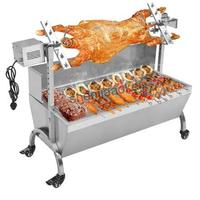 Elektrische grill grill Edelstahl BBQ Grill Holzkohle Schwein Spucken Röster Rotisserie Grill maschine Multifunktionale 1 stück-in Elektrische Grills & Elektro Grillplatten aus Haushaltsgeräte bei