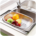 Free shipping home stainless steel shelf water dish draining basket kitchen sink storage rack drainboard