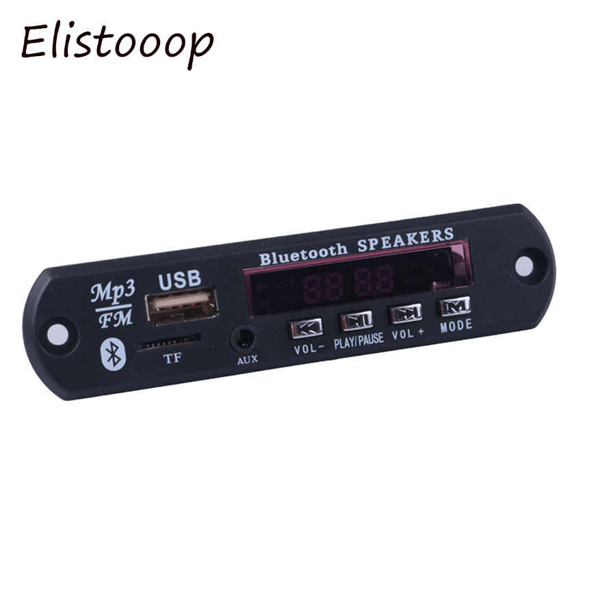 Elistooop Drahtlose Bluetooth 12V MP3 WMA Decoder Board Audio Modul USB TF Radio Für Auto zubehör