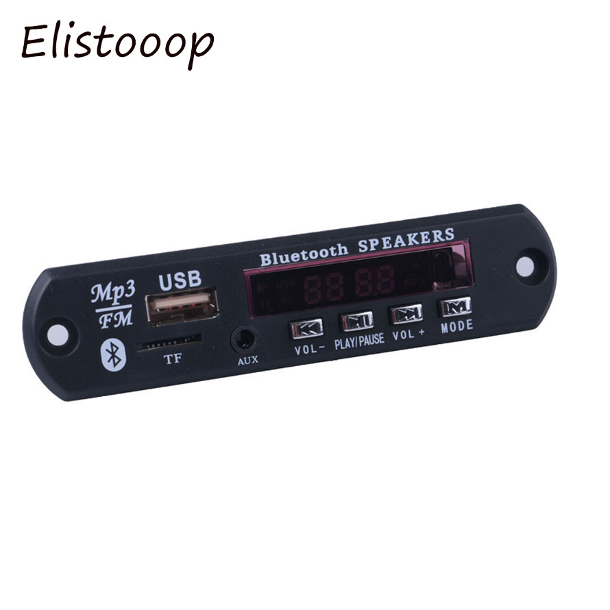 Elistooop Decoder-Board Audio-Module Tf-Radio Bluetooth Wireless MP3 USB 12V for Car-Accessories title=