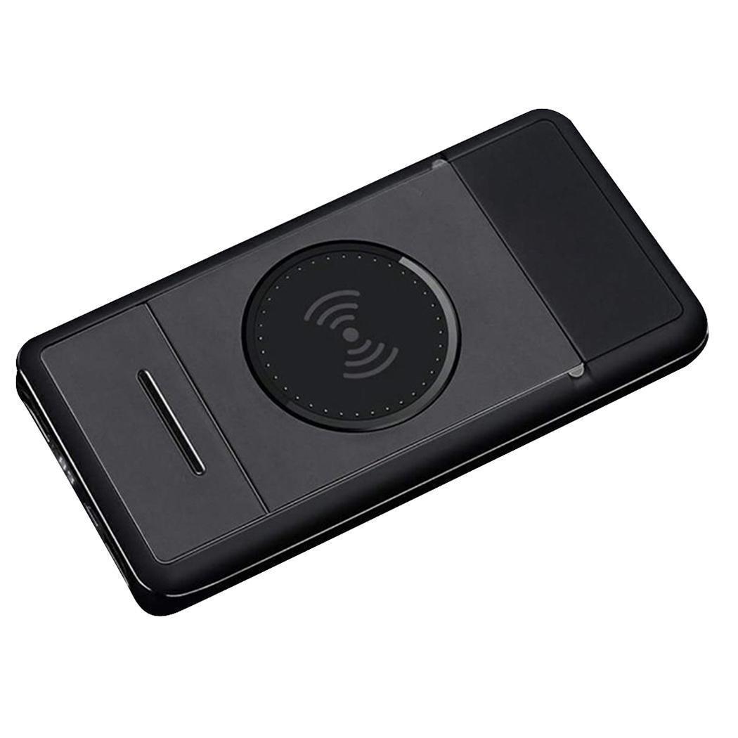 Qi chargeur sans fil affichage numérique puissance 10000 mAh banque en plastique Charge rapide noir Orange gris avec support