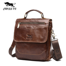 CROSS OX Summer New Arrival Genuine Leather Men Handbag Cow Leather Should Bag Casual Messenger Bag For Male SL399M