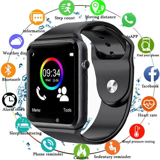 2019 Mdnen Bluetooth Smart Watch Men Women Sport Wristwatch Support 2G SIM Camera Smartwatch For Android Phone Fitness Tracker