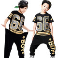 Fashion Boy Girl Hip Hop Dance Wear Mordern Jazz Hip-Hop 2pcs Clothing Set Kids Child Hip Hop Dance Costumes