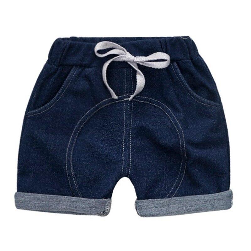 Summer Fashion Children Boys Girls Cartoon Print Denim Short Pants Trousers Kids Casual Shorts(China)