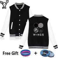 BTS Kpop Capless Baseball Hoodies Women Winter Cotton Pullovers Wings Sweatshirt Women Korean Hip Hop Feamale