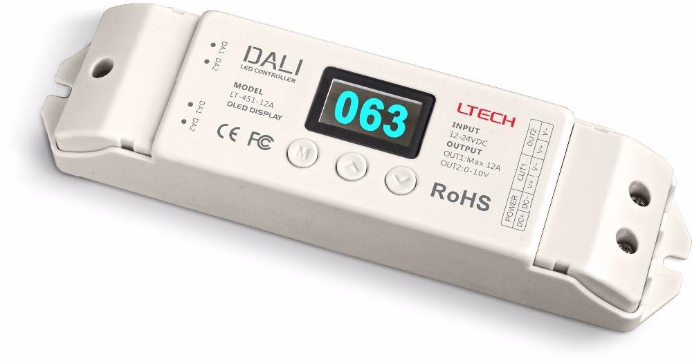LT-451-12A; DALI to PWM CV Dimming Driver;DC12-24V input;12A*1CH +0-10V *1CH output lt 451 12a dali to pwm cv dimming driver dc12 24v input 12a 1ch 0 10v 1ch output