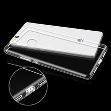 Case Для Huawei P9 Lite Силиконовые Задняя Крышка Резина Ультра тонкий Телефон Сумка Case Люксовый Бренд Ясно Для Huawei P9 Lite(China (Mainland))