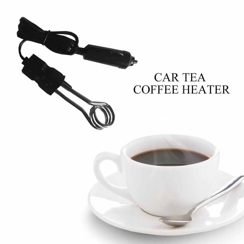 Calentador de inmersión de coche portátil 12V Auto eléctrico té café calentador de agua